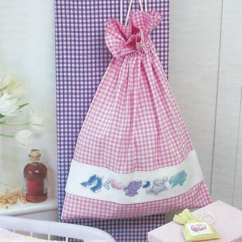 Мешок для белья, украшенный