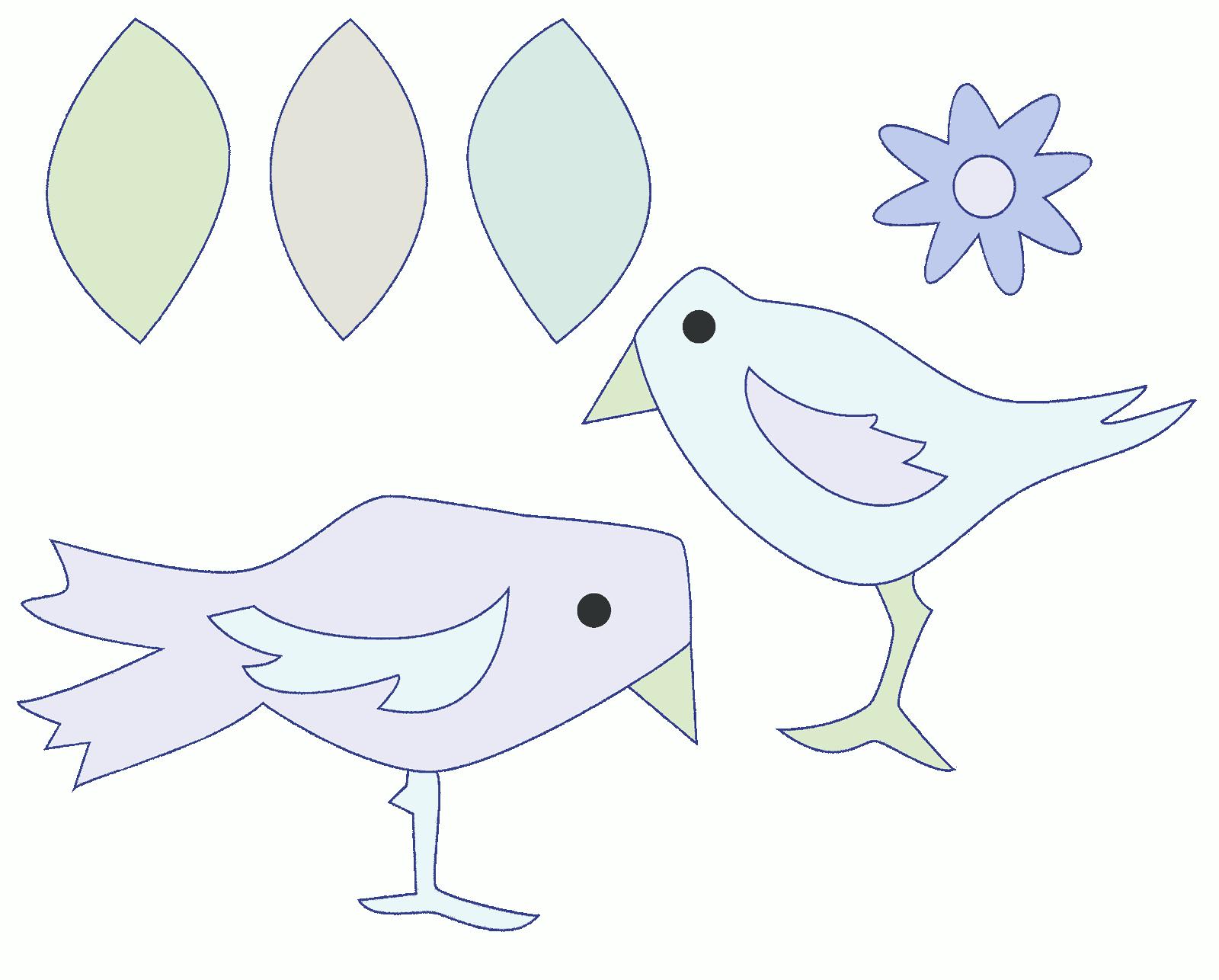 птицы для аппликации шаблоны если