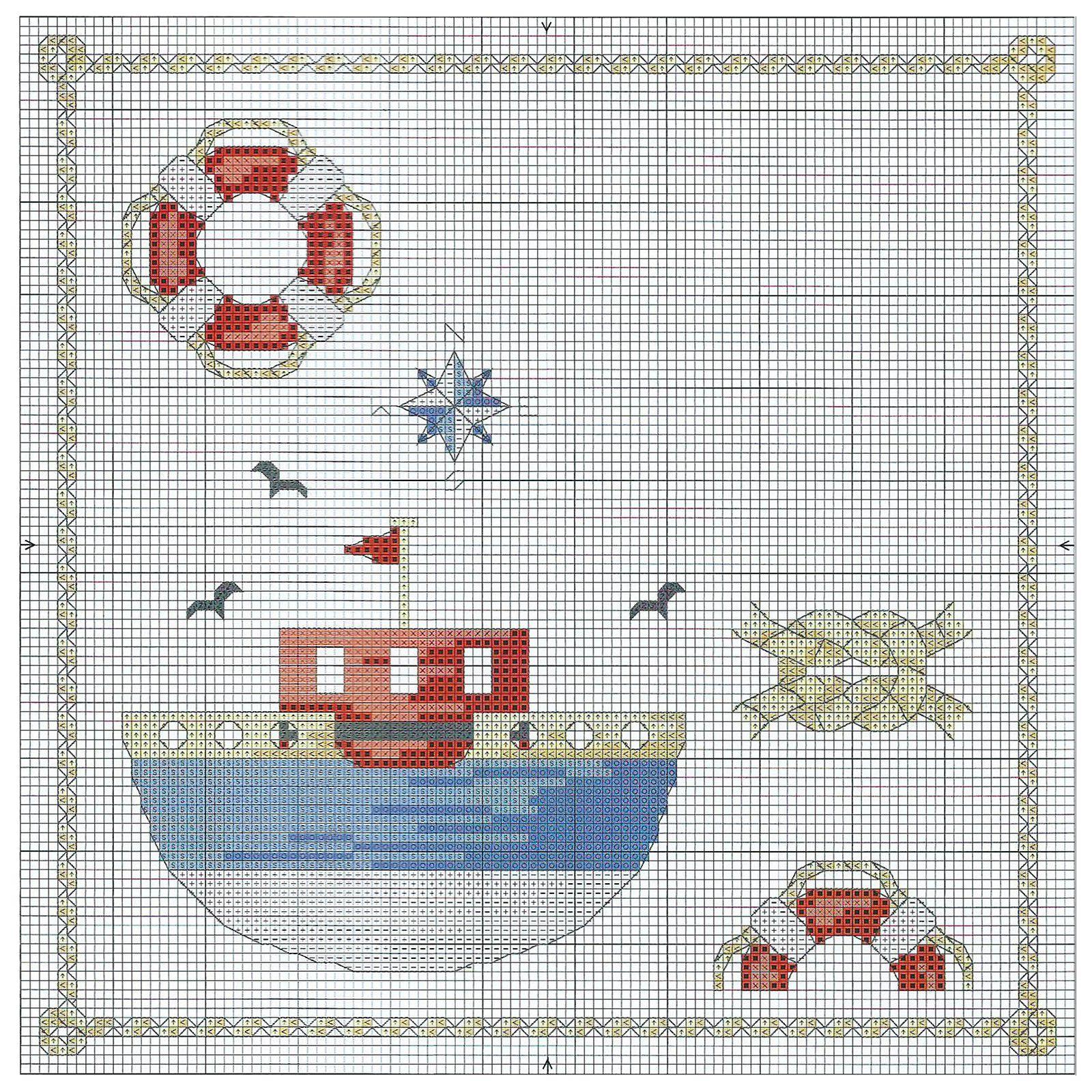 Чайки - Вышивка крестом: бесплатные схемы для вышивания 51