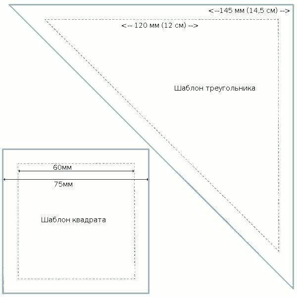Схема сборки лоскутного