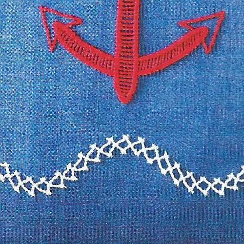 Схема вышивки якоря над