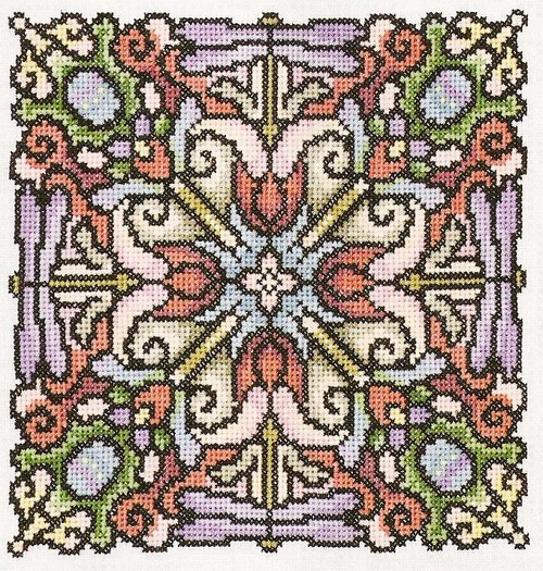 вышивка крестом мандала схема