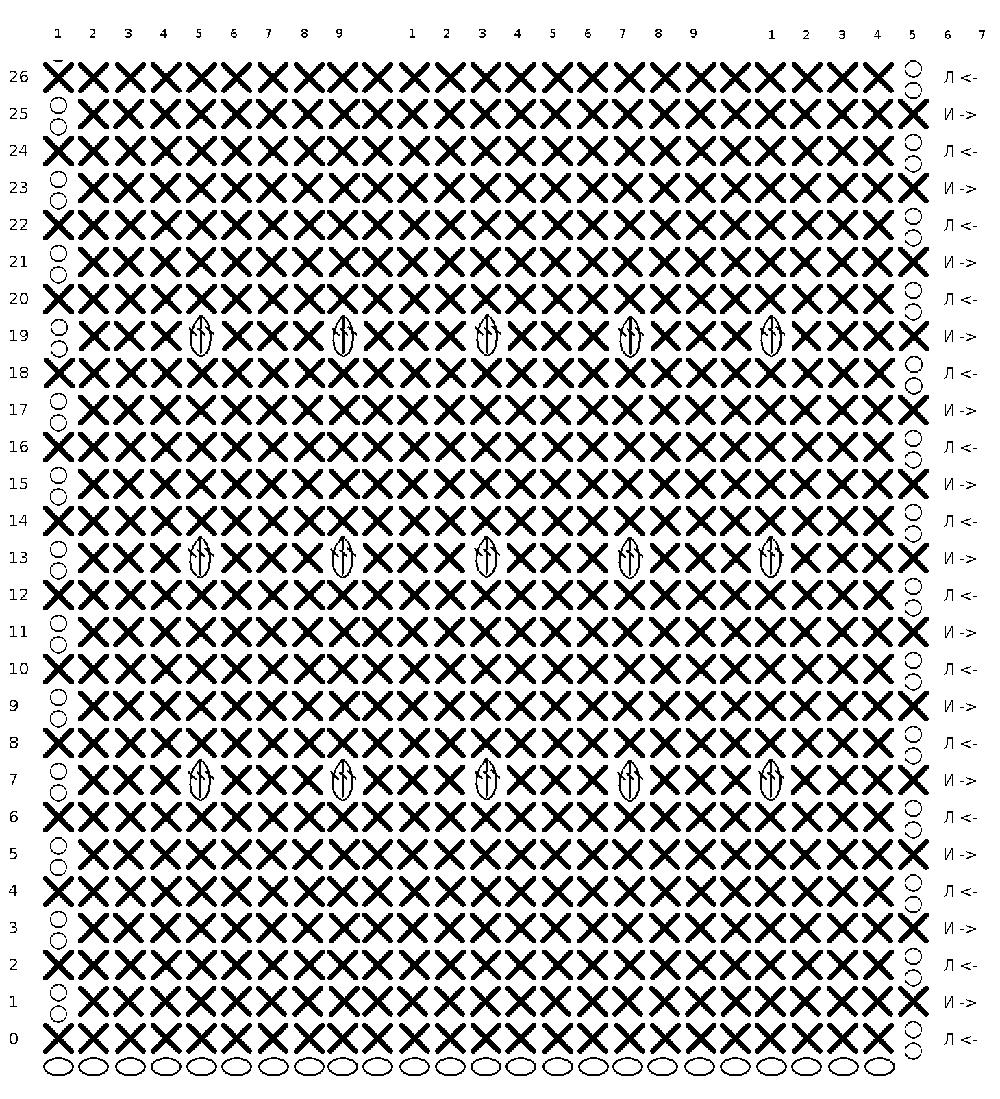 квадраты крючком для пледа схемы