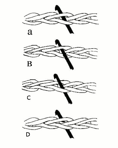 способы введения крючка при вязании петель рукоделие для дома