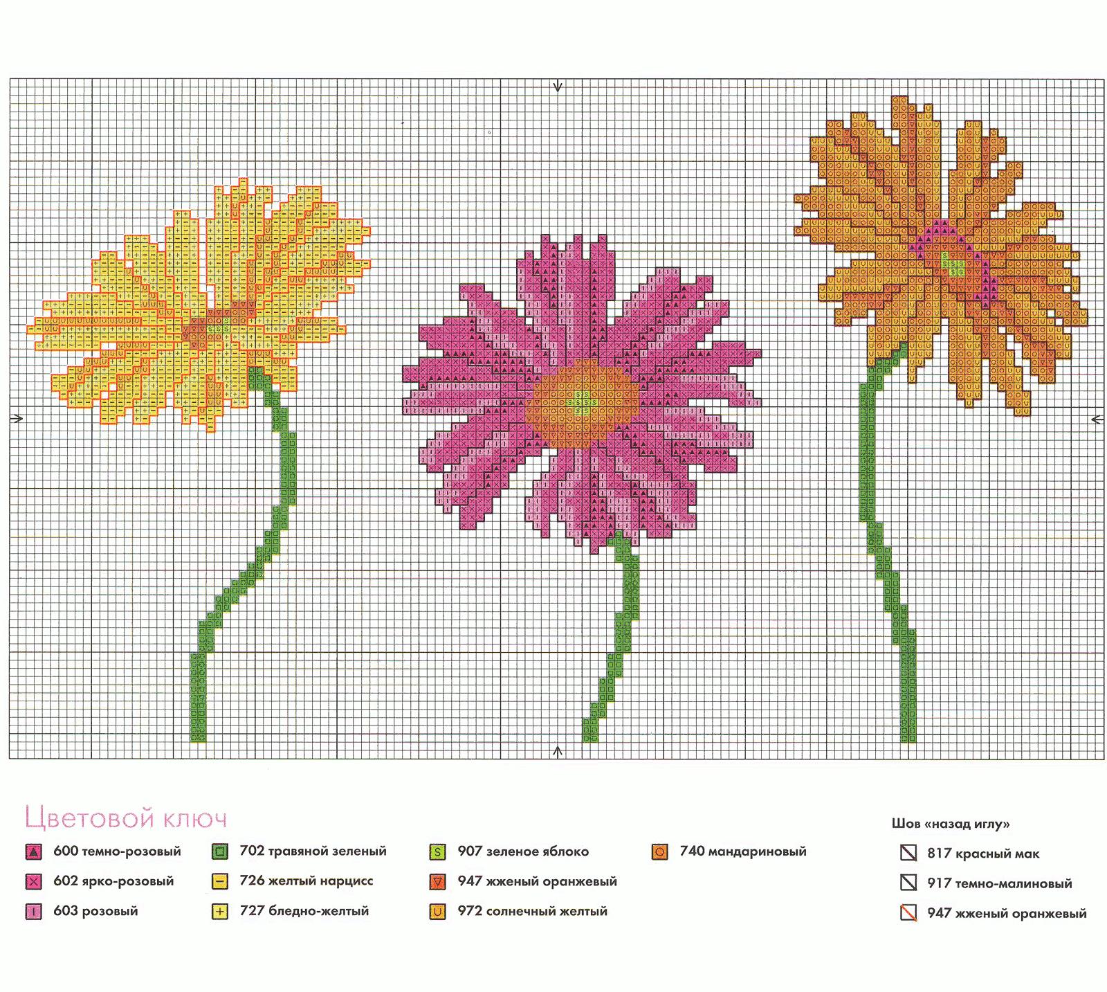 Цветовая схемы для вышивки крестом