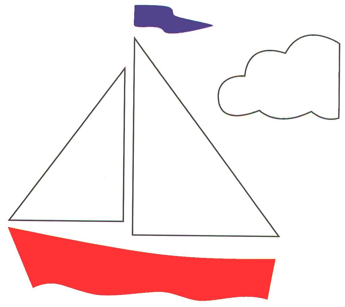 Макет кораблика для открытки 78