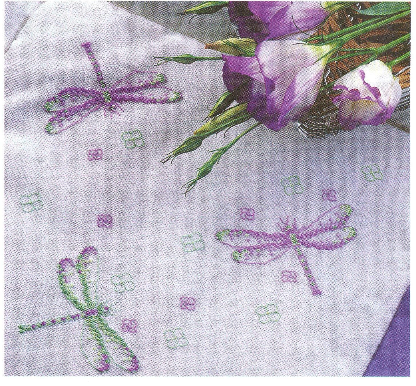 Вышивка стрекоза крестиком