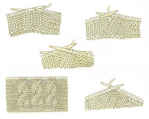 Вязание спицами коса пошагово