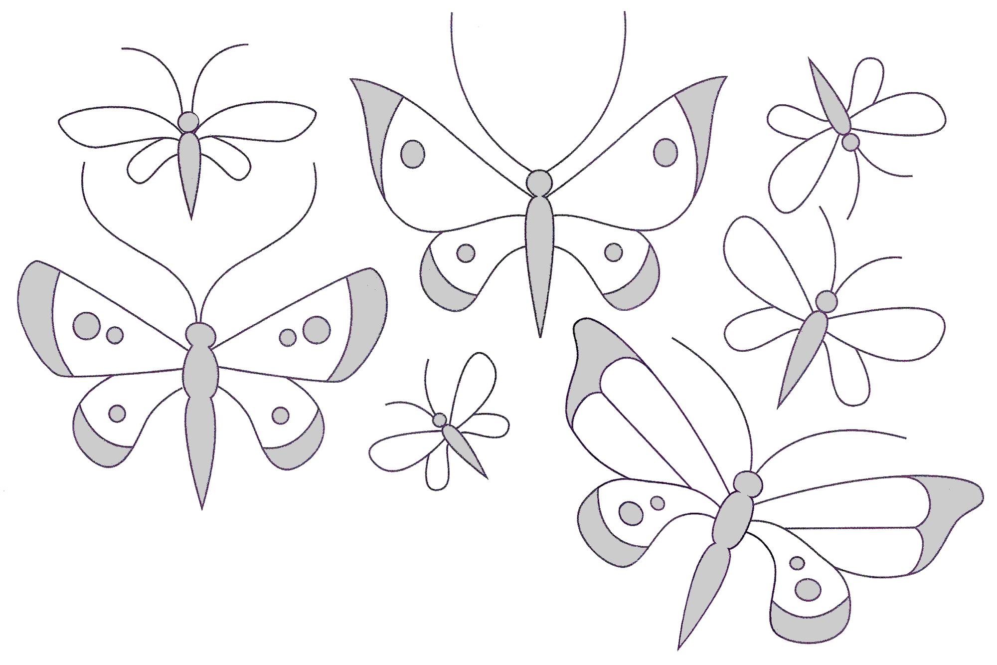 Вышивка гладью рисунки бабочек 43