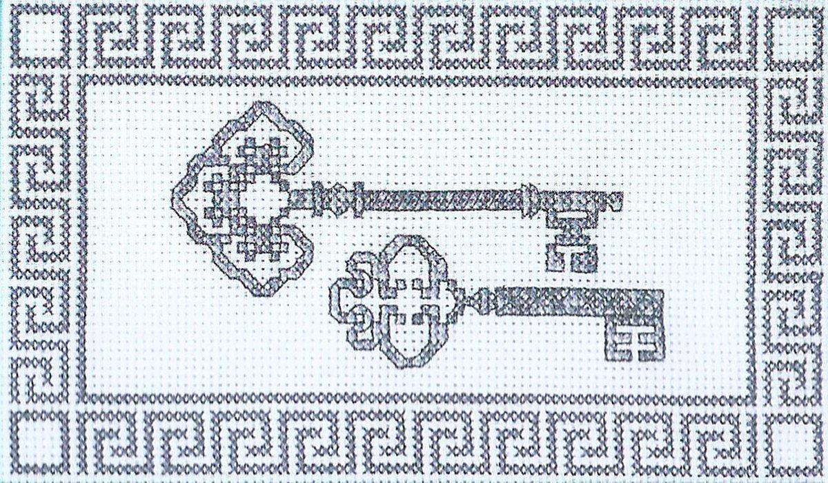 Схемы вышивки ключиков